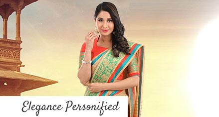 Agnisie-Pack of 2 Chanderi Sarees