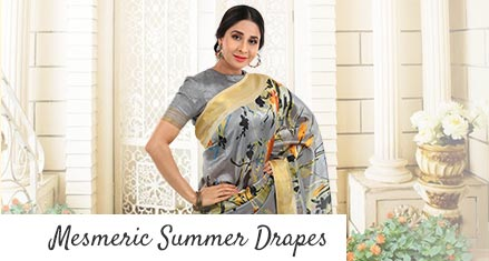 Agnisie Pack Of 2 Printed Summer Sarees