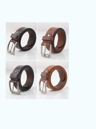 Fabbro Men Genuine Leather Casual Belt - Brown-031